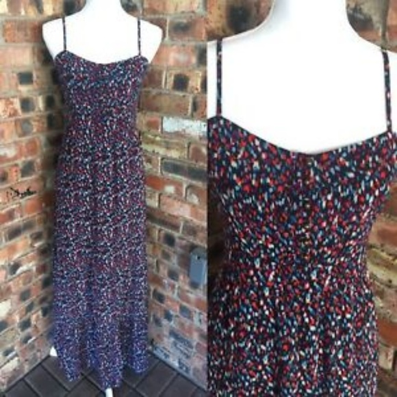 Fossil Dresses & Skirts - Fossil maxi dress red white blue